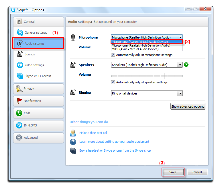 how to change skype startup settings